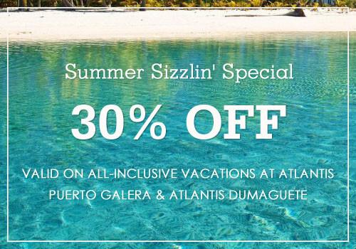 30% Off Summer Sizzlin' Special